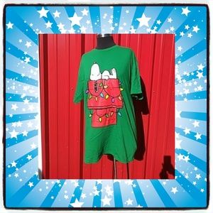 Snoopy Green L Christmas Shirt Unisex
